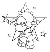 Star Dragon Coloring Page